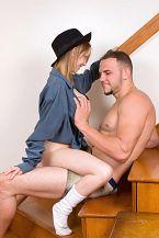 Preggo Hipster Striptease