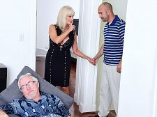 64-year-old Leah fucks. Her partner watches.